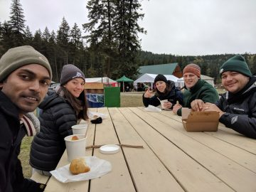 IOF students enjoying Adams River trip (photo © Ravi Maharaj)