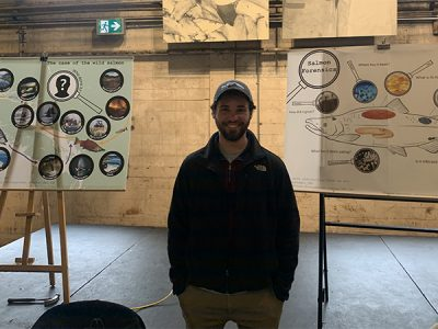 Jacob Lerner at Salmon Science Expo